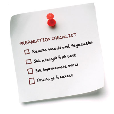 Preparation Checklist for soil preparation before laying a new lawn